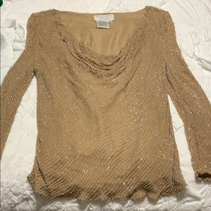 Beaded blouse.